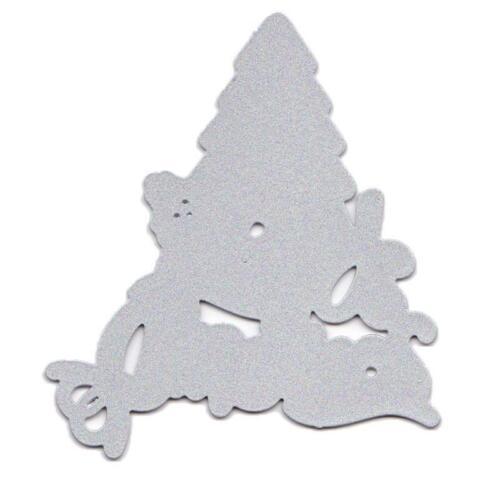 DIY Merry Christmas Tree Metal Cutting Dies Stencil Scrapbooking Album Card Deco