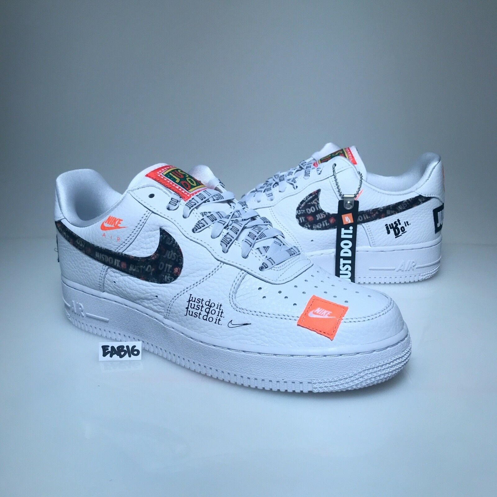 Nike Air Force 1 One Low 07 PRM JDI Just Do It White Black orange AF1 AR7719 100
