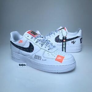 4be225d1442 Nike Air Force 1 One Low 07 PRM JDI Just Do It White Black Orange ...