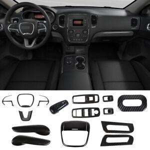 Carbon Fiber Interior Decoration Trim Kit Accessories For Dodge Durango 14+ 16pc