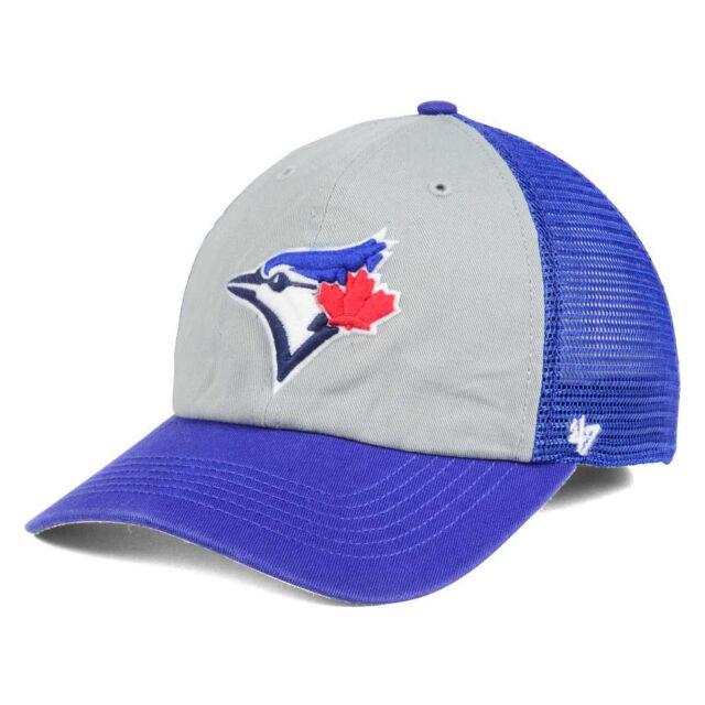 brand new 8fe92 942b7 ... new zealand toronto blue jays mlb ravine 47 closer stretch fit mesh  baseball cap hat mens
