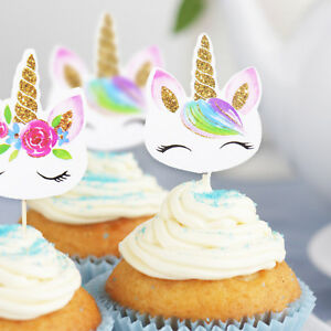 24pc-Unicorn-Cupcake-Toppers-Edible-Wafer-Paper-Cake-Topper-Birthday-Party-Decor