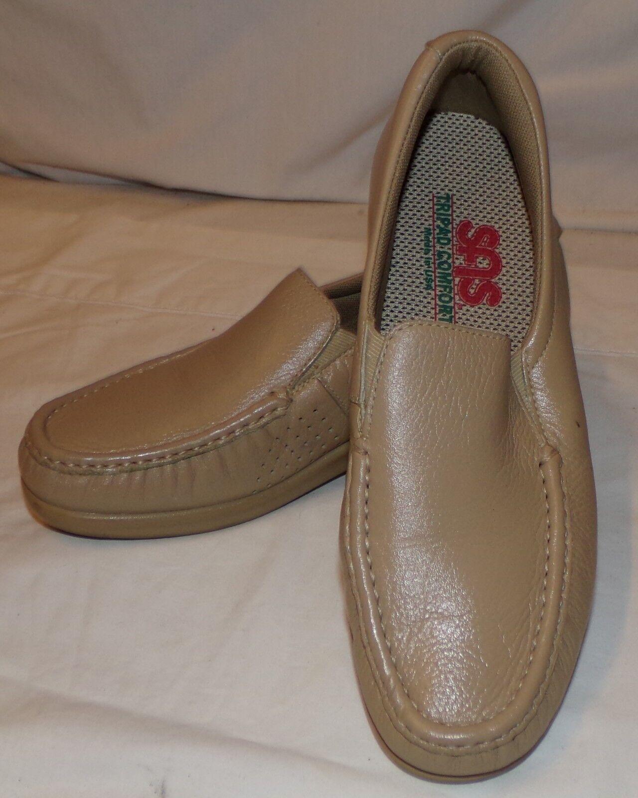 SAS Womens Light Brown Slip On shoes Loafers 7 1 2N 7 1 2 N 7.5 Comfort