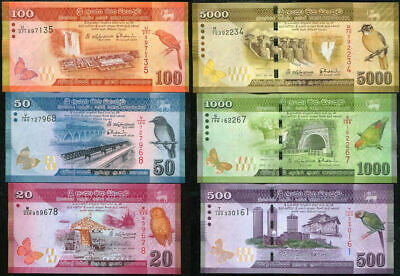 2015-2017 UNC Lot 10 PCS Sri Lanka 100 Rupees P-125