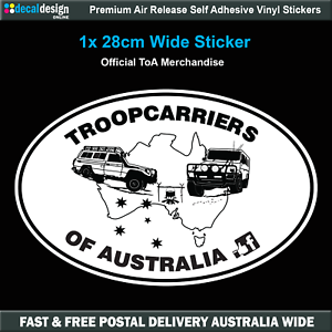 Troopcarriers-of-Australia-Large-Oval-Two-Troopy-039-s-Decal-Sticker-TOA021