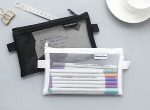 Clear-Exam-Bag-Large-Student-Transparent-Pencil-Case-Net-Cosmetic-Makeup-Pouch