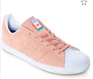 NIB Adidas Mens Size 10 Womens 11.5 Pink Superstar Vulc ADV Pastel Pink 11.5 Shoes EUR43.5 0f9877