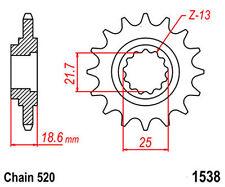 KR Ritzel 15Z Teilung 520 KAWASAKI Z 750 / Z 750 J / Z 750 ABS Front sprocket