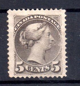 Canada-QV-1870-5c-mint-MH-grey-WS15415