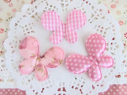 60 Tissu Rose Papillon Applique//vichy carreaux//Pois//Coeur Imprimé//Trim H272