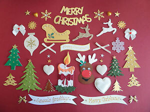 *40* CHRISTMAS EMBELLISHMENTS *GREAT VALUE* CHRISTMAS CARD MAKING SCRAPBOOKING