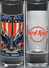 "Hard Rock Cafe ONLINE 2009 July 4th 4"" SHOT GLASS Cordial Mint New! HRC HRO"