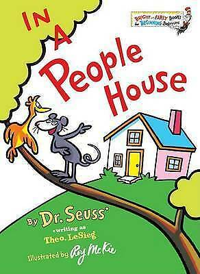 In a People House by Theo LeSieg Hardback Dr. Seuss Bright Early Beginning Book