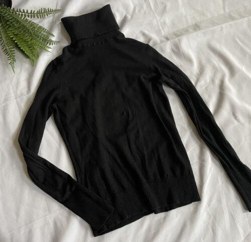 Banana Republic Silk Black Turtleneck Sweater