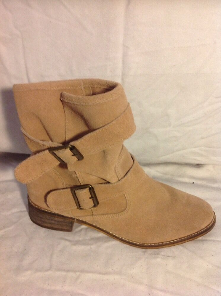 FALMER Brown Ankle Suede Boots Size 5