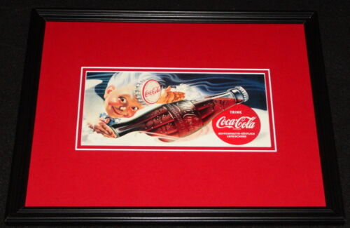 Vintage Coca Cola Germany Framed 11x14 Poster Display Official Repro B