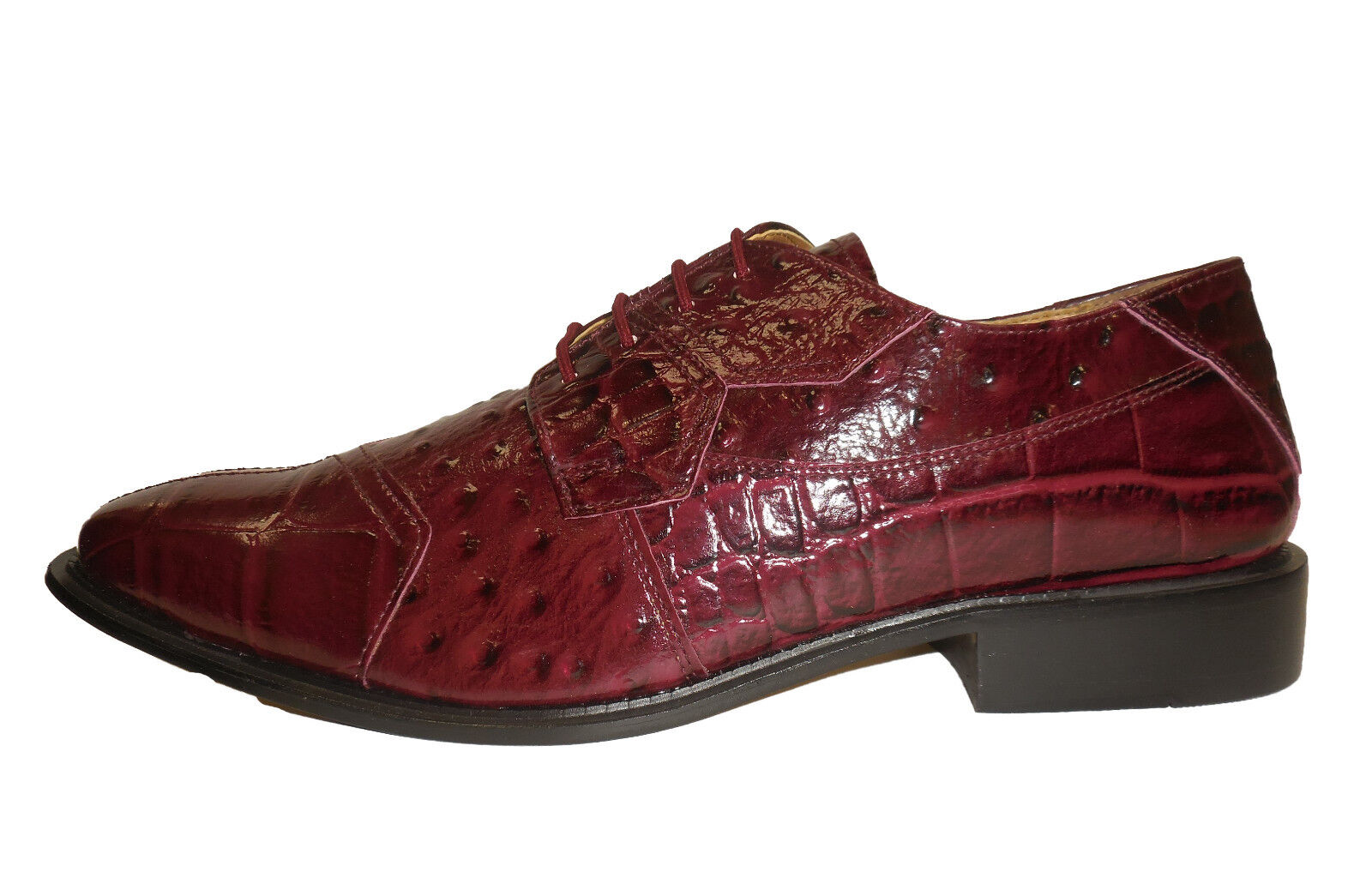 Liberty Liberty Liberty LS1105 Mens Dressy Exotic Look Oxfords schuhe Maroon Wine Dark Ruby ab9301