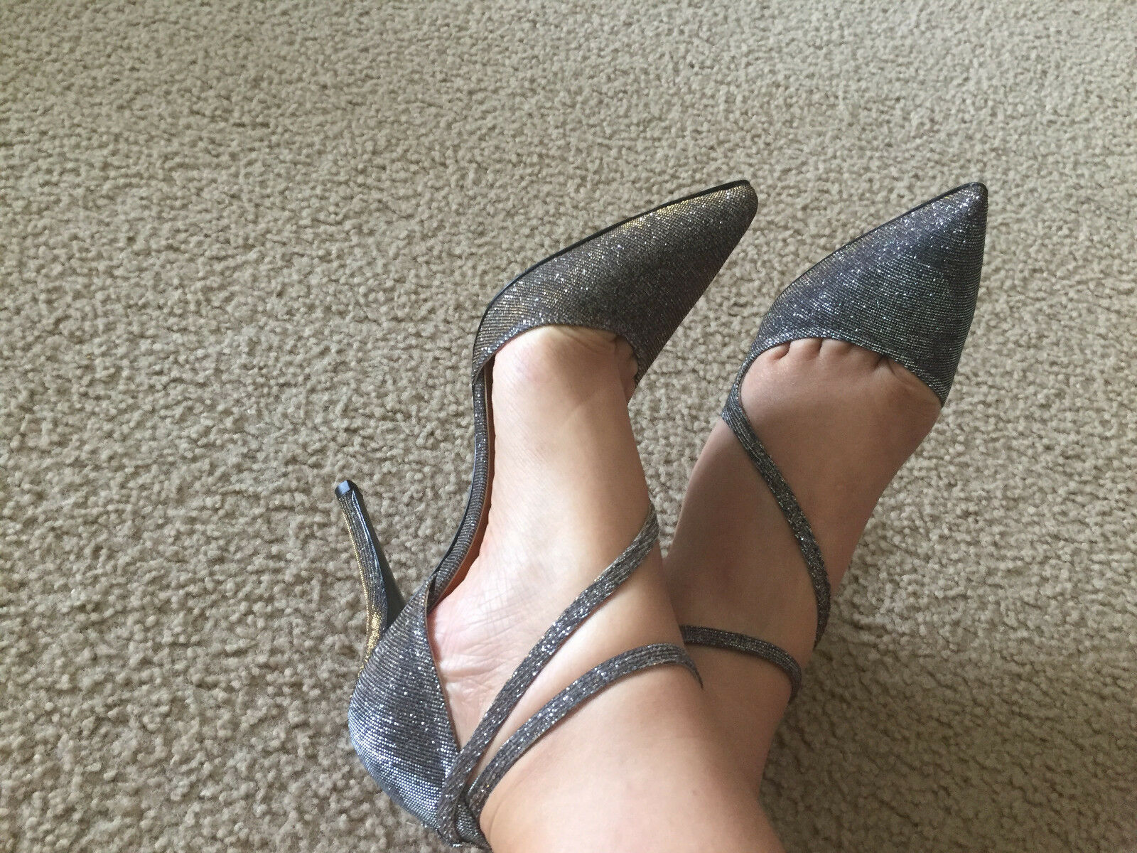 NIB Stuart Weitzman for TheCoolPeople Swinger Pyrite evening shoe 7 7.5 8