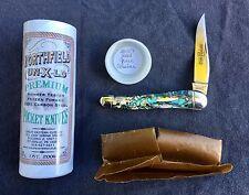 GREAT EASTERN CUTLERY GEC Northfield Un-X-Ld #38 Green Abalone Knife