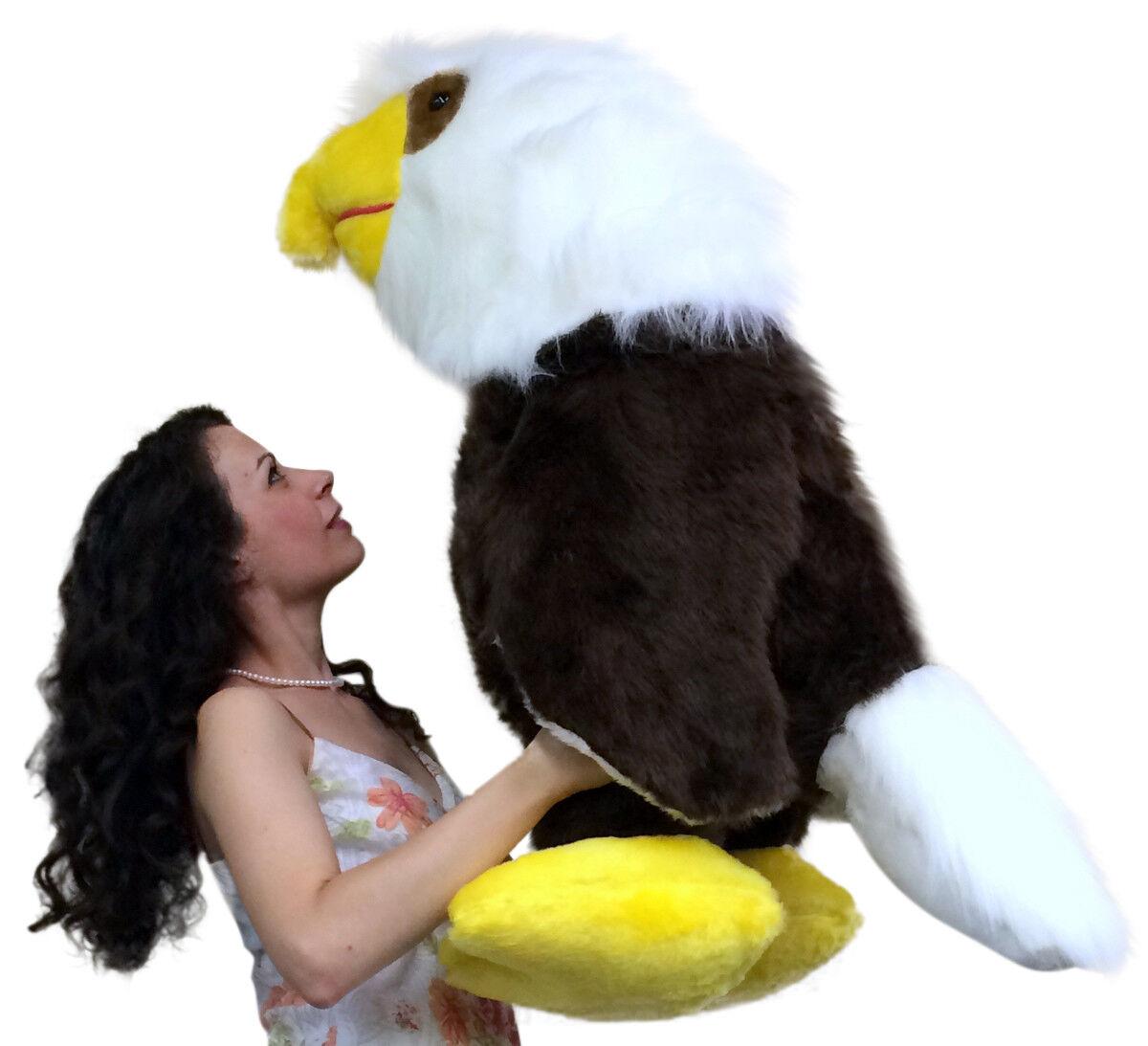 Americano Fatto 0.9m Gigante Peluche Aquila 91.4cm Morbido gree Plush Bird in USA