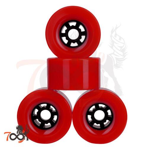 Cal 7 90mm 78A Longboard Flywheel Skateboard Red Wheels ABEC-7 Bearings