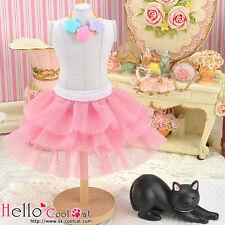 ☆╮Cool Cat╭☆190.【PD-19】Blythe Pullip Tulle Cake Mini Skirt # Rose Pink