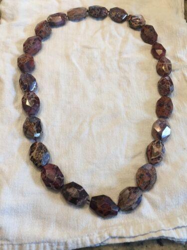 boho etc Pink single strand wooden bead long length necklace- retro laganlook