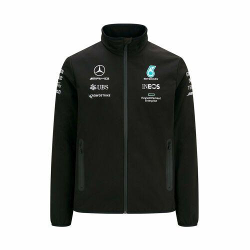 Mercedes AMG F1 2021 Herren Softshelljacke Team Schwarz L DE