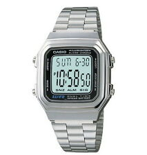Vintage Casio A178WA-1A Digital Silver Watch A178 #ONSALE