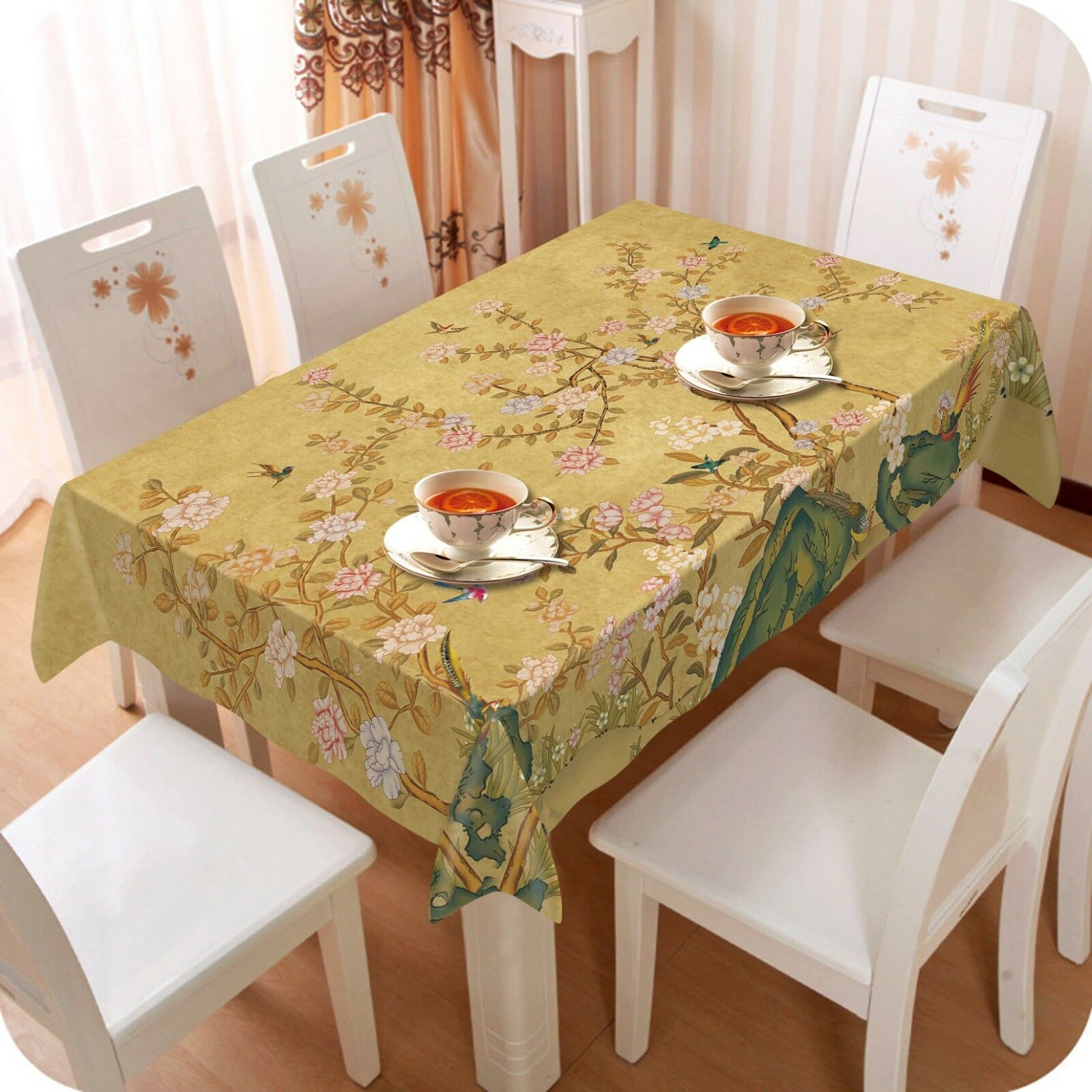 3D rose Squid Bird 06 Tablecloth Table Cover Cloth Birthday Party Event AJ Lemon