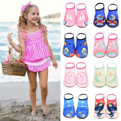 Boys Girls Non-slip Beach Water Shoes Aqua Socks Water Socks Pool Swim Surf Size