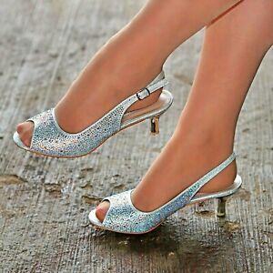 Women Slingback Wide Fit Shoes Peep Toe