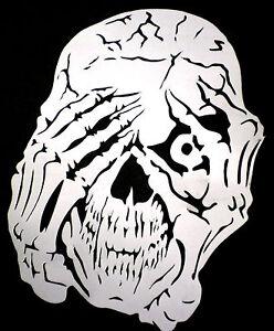 200 micron high detail airbrush stencil helmet  skull   FREE UK  POSTAGE