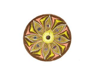 Patch-Ricamata-Buddista-Mandala-Fiore-Artigianato-Fatto-Mano-MD32