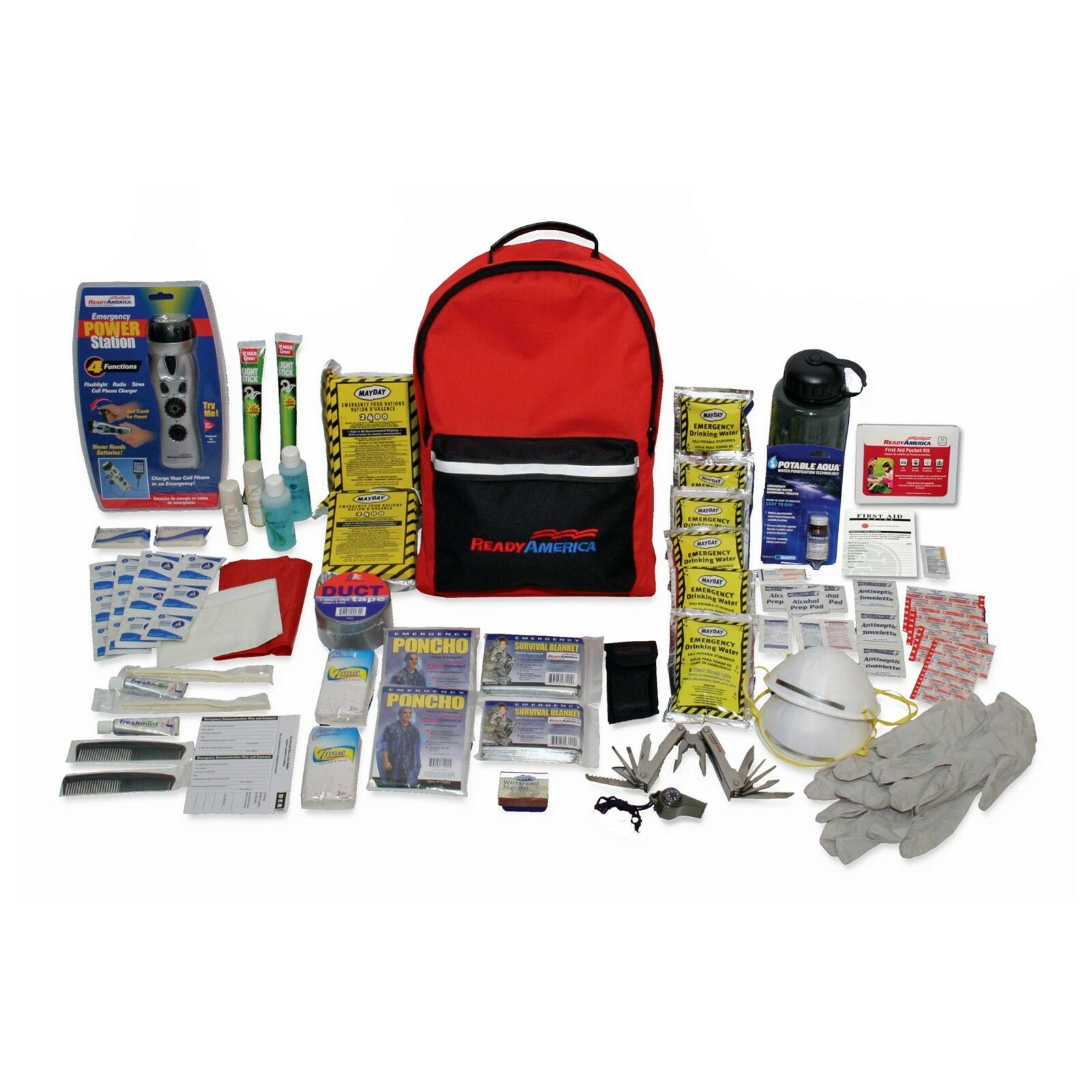 2 Person Deluxe Emergency Kit (3 Day Backpack) - Ready America
