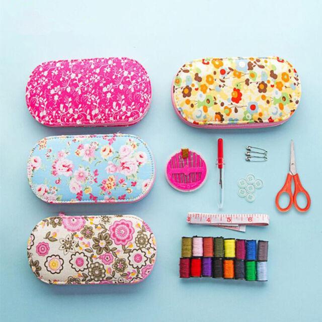 Portable Mini Sewing Kit Home Travel Thread Needle Measure Scissor DIY Tools Set