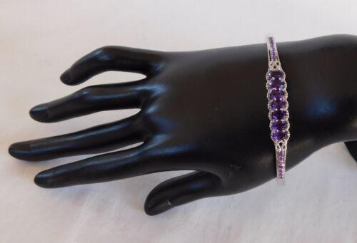 Lusaka améthyste bijou 7.25 Bracelet TCW 3.48 Platinum Bond/laiton