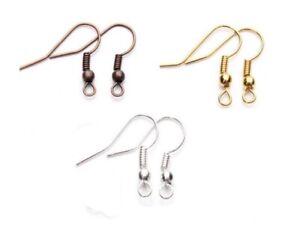 450-Ohrhaken-Mix-Gold-Silber-Kupfer-Fischhken-17mm-Schmuckherstellung-Ohrring
