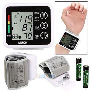 Monitor-Cuff-Heart-Beat-Rate-Pulse-Meter-Digital-Automatic-Wrist-Blood-Pressure