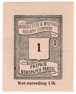 I-B-Manchester-amp-Milford-Railway-Newspaper-Parcel-1d-large-format