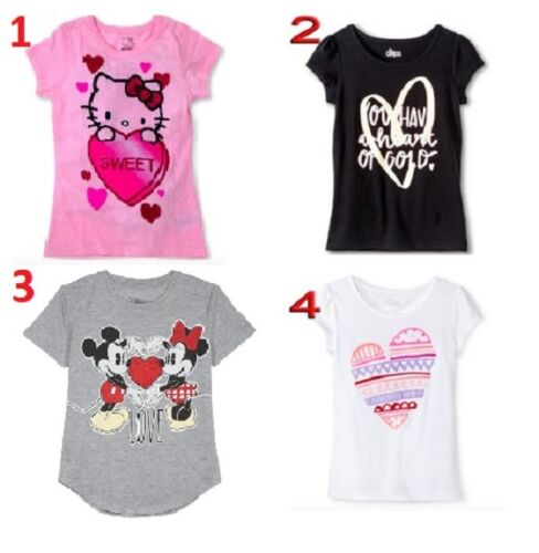Minnie tee t-shirt top white heart New NWT girls hello kitty minnie black
