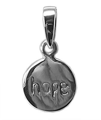 HOPE PENDANT / Charm 925 Sterling SILVER 10mm Diameter