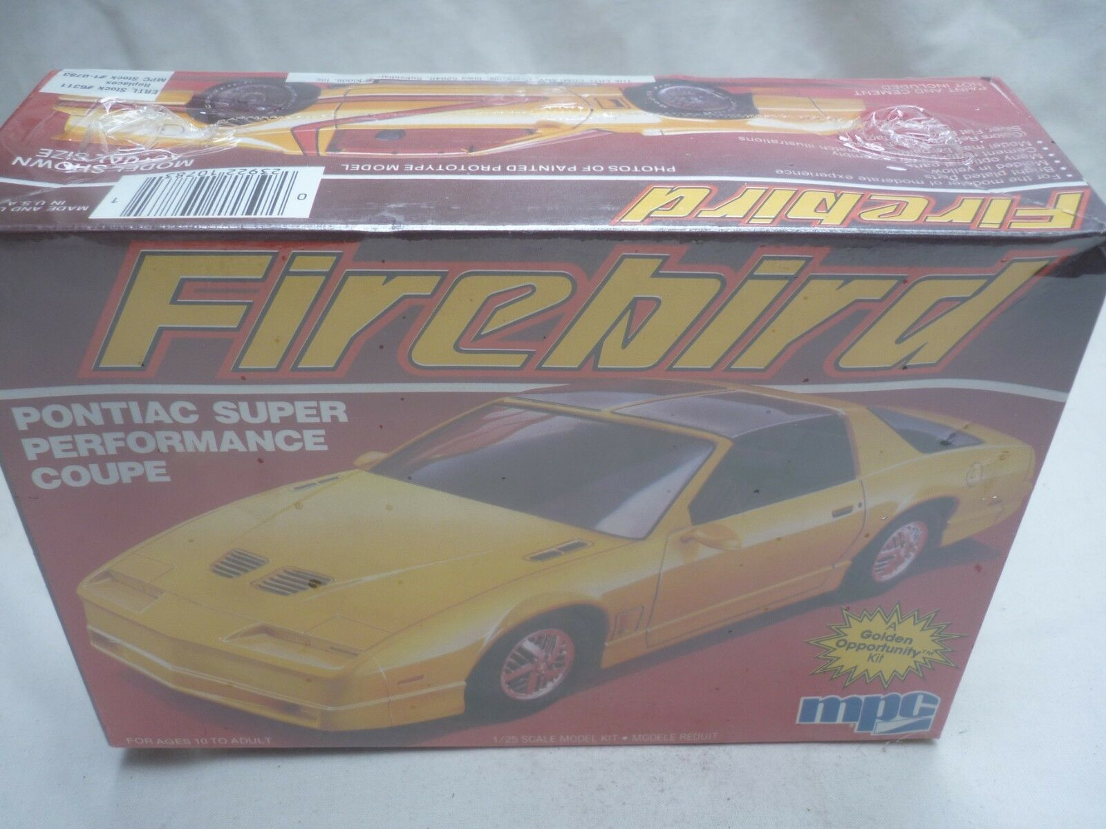 MPC un-opened plastic kit of a Pontiac Firebird, Factory sealed