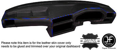 BLUE STITCH DASH DASHBOARD LEATHER SKIN COVER FOR BMW 3 SERIES E30 81-92 STYLE 2