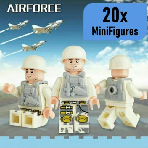 20pcs military swat  US British Soldiers Mini Figures Fit Lego Toy UK SELLER