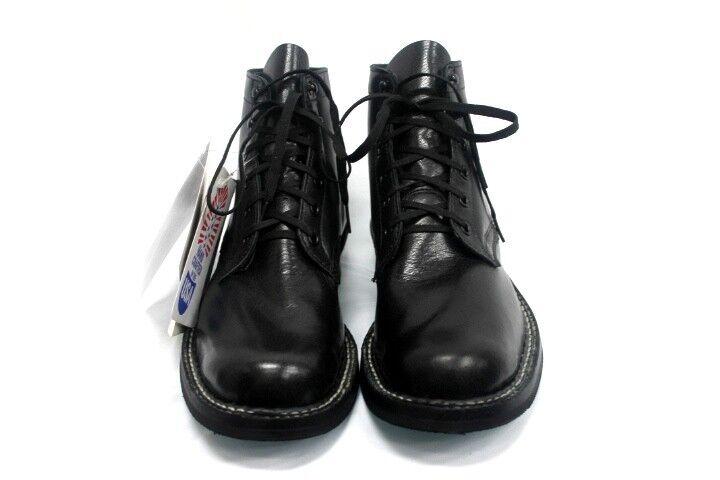 blancoos botas para hombres 5  Semi Vestido Negro Búfalo de Agua Hecho en EE. UU.