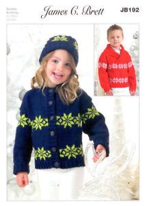 Knitting Pattern James C Brett JB193 DK Christmas Snowflake Jumper
