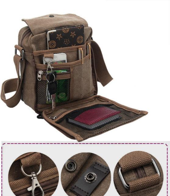 Men's Canvas Shoulder Messenger Rucksack Backpack Travel Bag Satchel Xmas Gift