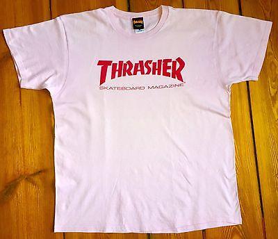 100% Vero Thrasher Skateboard Magazine Vintage T-shirt-originale Super Rare Size Xl Rosa-mostra Il Titolo Originale Adatto Per Uomini, Donne E Bambini