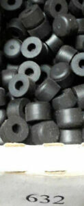 End-Bumpers-Rubber-End-Caps-632-1-4-034-Height-Pack-Of-25-Available-in-Black